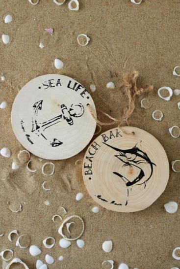 Dekoracja Sea Life Hangers 10x10x1 cm