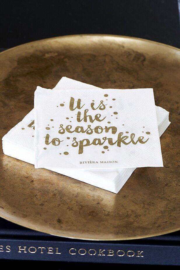 Serwetki Season To Sparkle Riviera Maison