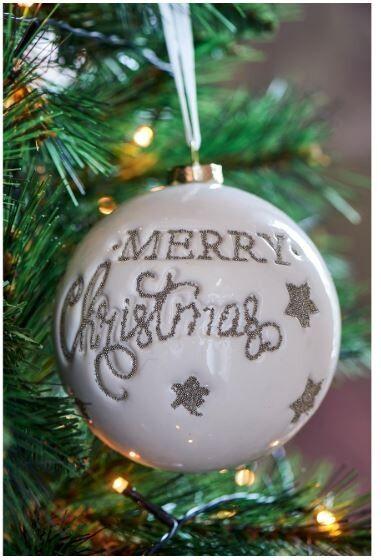 Bombka Merry Christmas Sprinkle