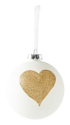Bombka Happy Heart 8cm Riviera Maison