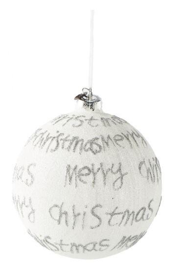 Bombka Merry Christmas Silver śr. 12 cm Riviera Maison