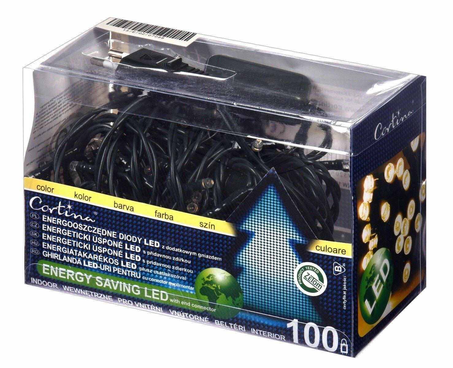 Lampki LED wewnętrzne 100 lampek