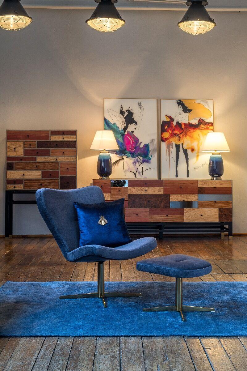 Komoda Modern Copper z szufladami 100x38x155cm