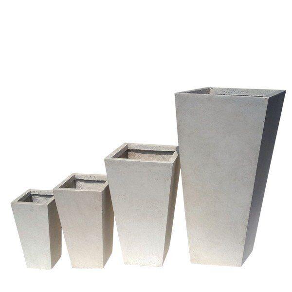 Donica ogrodowa ceramiczna 32x32x62cm