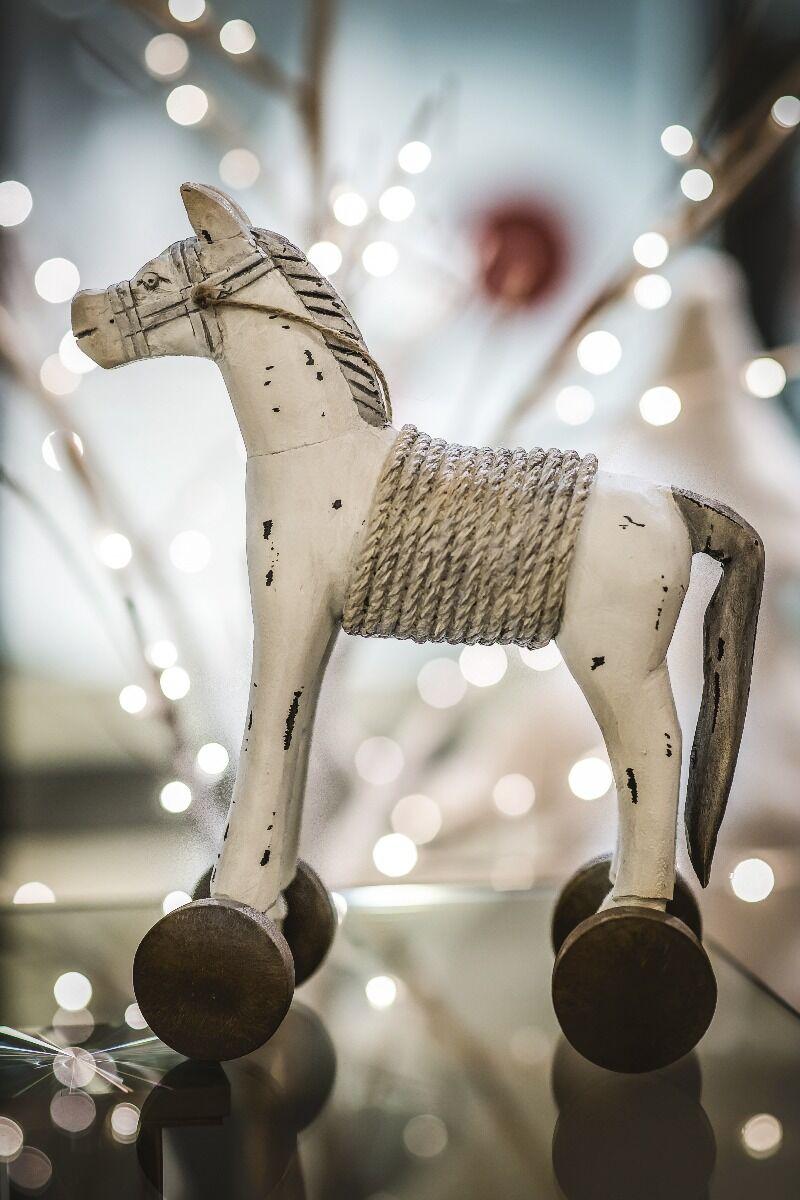Figurka Koń na biegunach 29x13x35 cm
