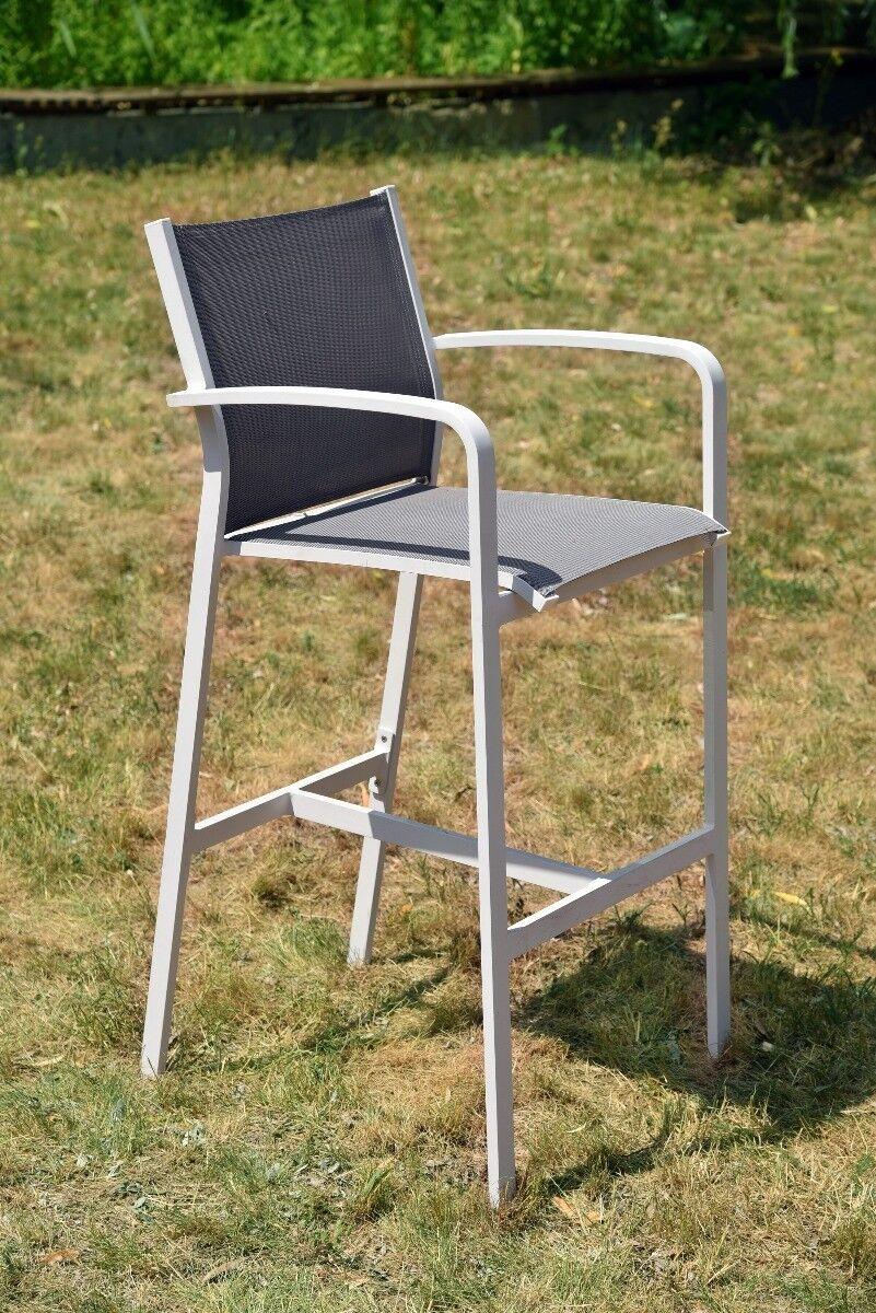 Krzesło barowe ogrodowe Faro z podłokietnikami 57x63x116cm
