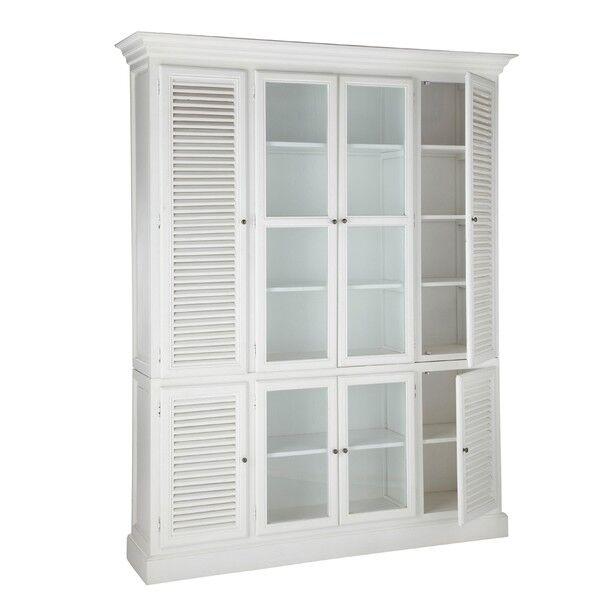 Biblioteka Alysa z drzwiami żaluzyjnymi 170x48x230cm