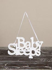 Tabliczka na drzwi Baby Sleeps 19x12 cm