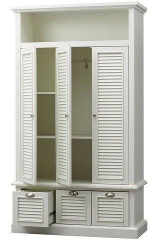 Wieszak z drzwiami i szufladami Alysa 3D3S 138x53x230cm