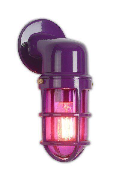 Kinkiet Factory Purple 18x18x25 cm