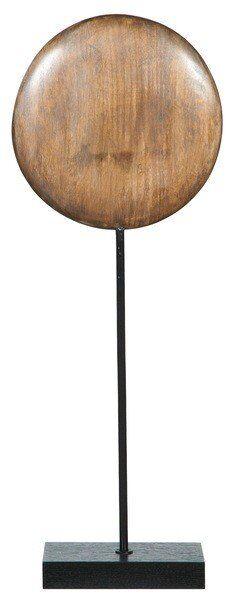 Figurka Modern Cooper Drewniany kamień na metalowej podstawie H63 cm