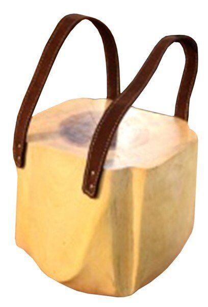 Stołek drewniany w formie torby Natural Secret 30x34x28cm