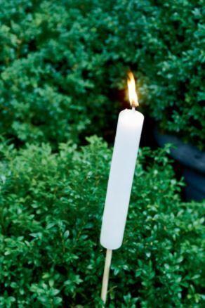 Pochodnia ogrodowa Garden Torch White S 3,2x67 cm Riviera Maison