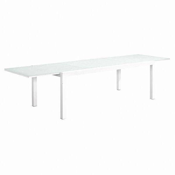 Stół Faro rozkładany szkl.blat 220(330)x105x75cm