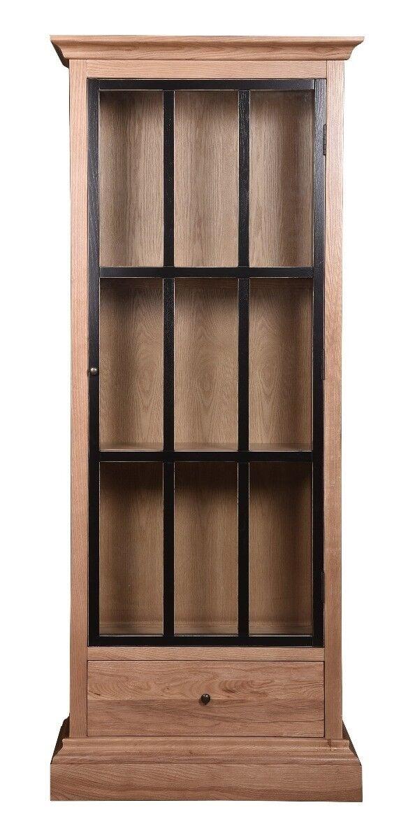 Witryna drewniana Kate 80x38x200cm