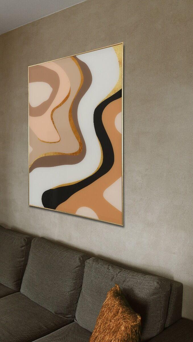 Grafika na szkle Caramel Waves 70x100x3cm
