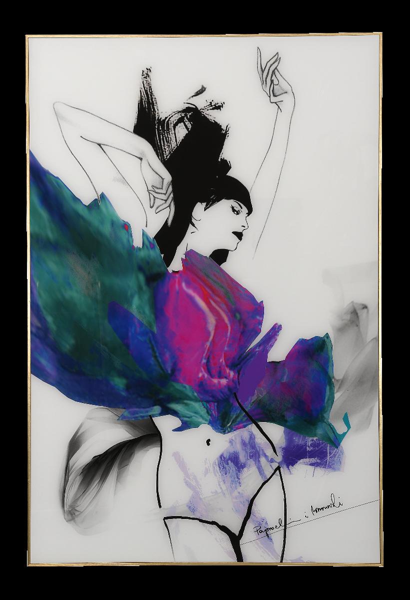 Grafika na szkle Paprocki&Brzozowski Color Sketch I 80x120x3cm