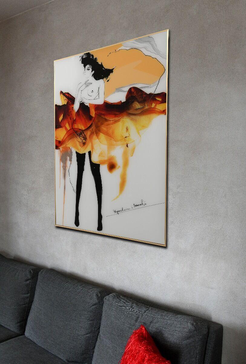Grafika na szkle Paprocki&Brzozowski Color Sketch III 80x120x3cm