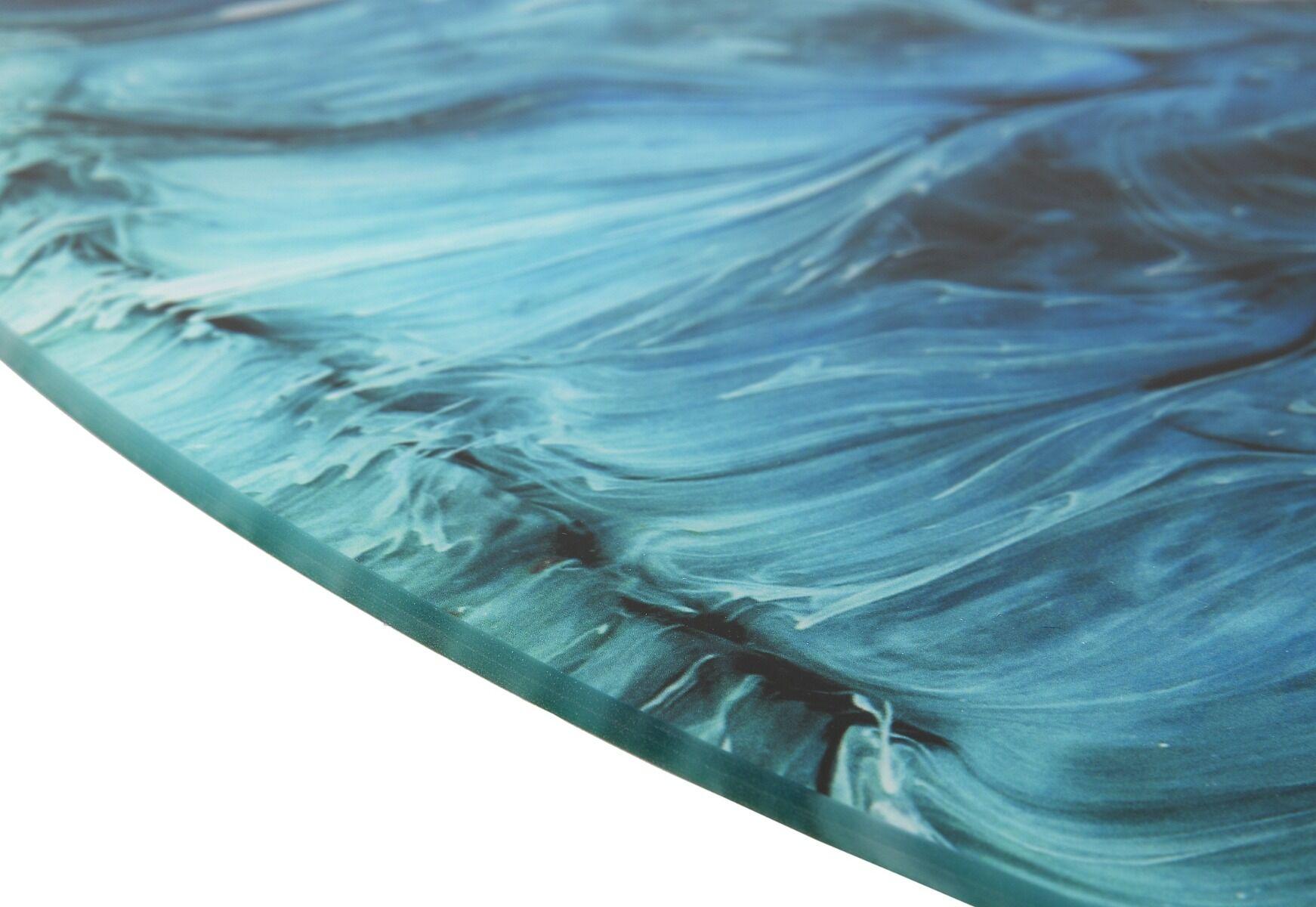 Grafika na szkle okrągła Dark Ocean Waves śr.70cm