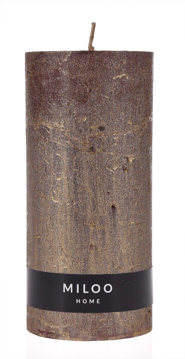 Świeca walec Metalik 15x7x7 cm