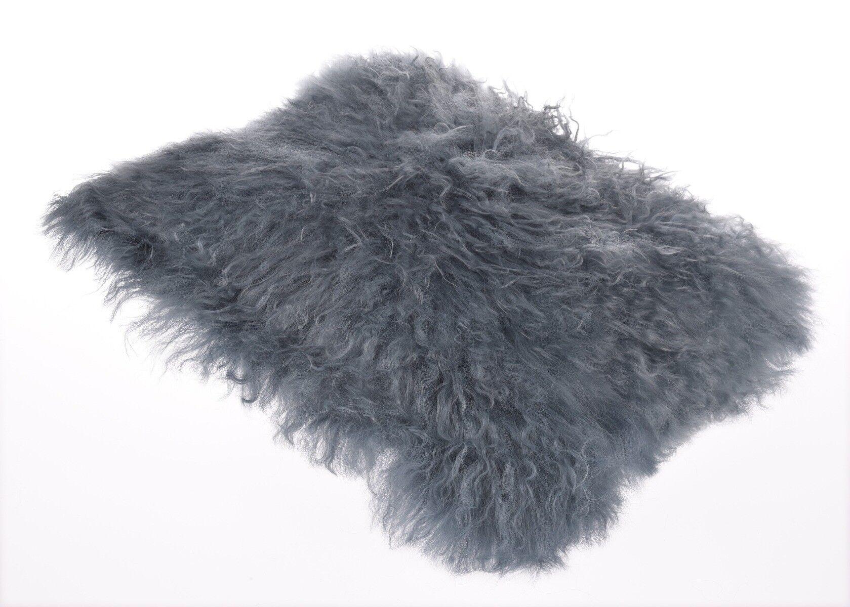 Ciemnoszara poduszka Lamb 35x35 cm