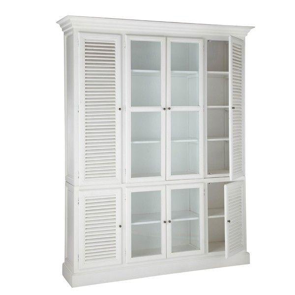 Biblioteka Alysa z drzwiami żaluzyjnymi 170x48x230 cm