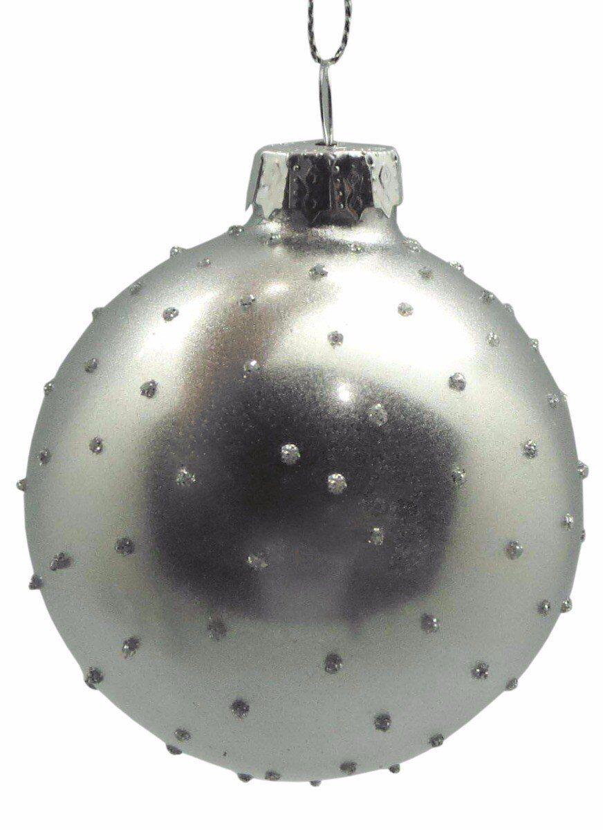 Srebrna bombka 7cm