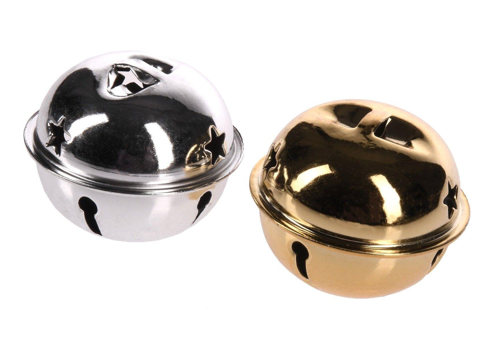 Dekoracja choinkowa dzwonki śr. 4cm 8szt.