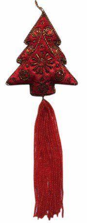 Ornament haftowana choinka z chwostem 10cm