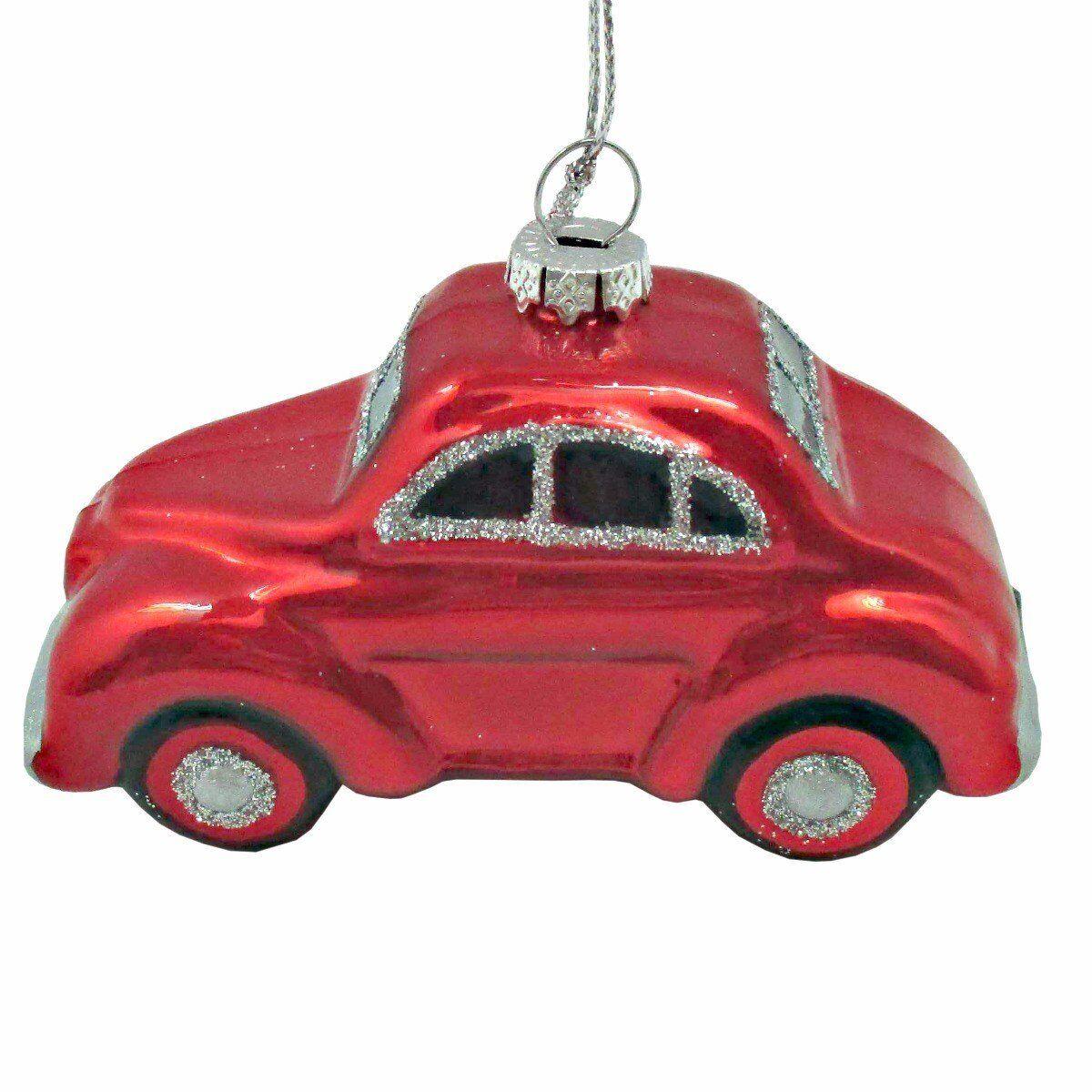 Bombka Classy Car 10x7x4cm szkło czerwona