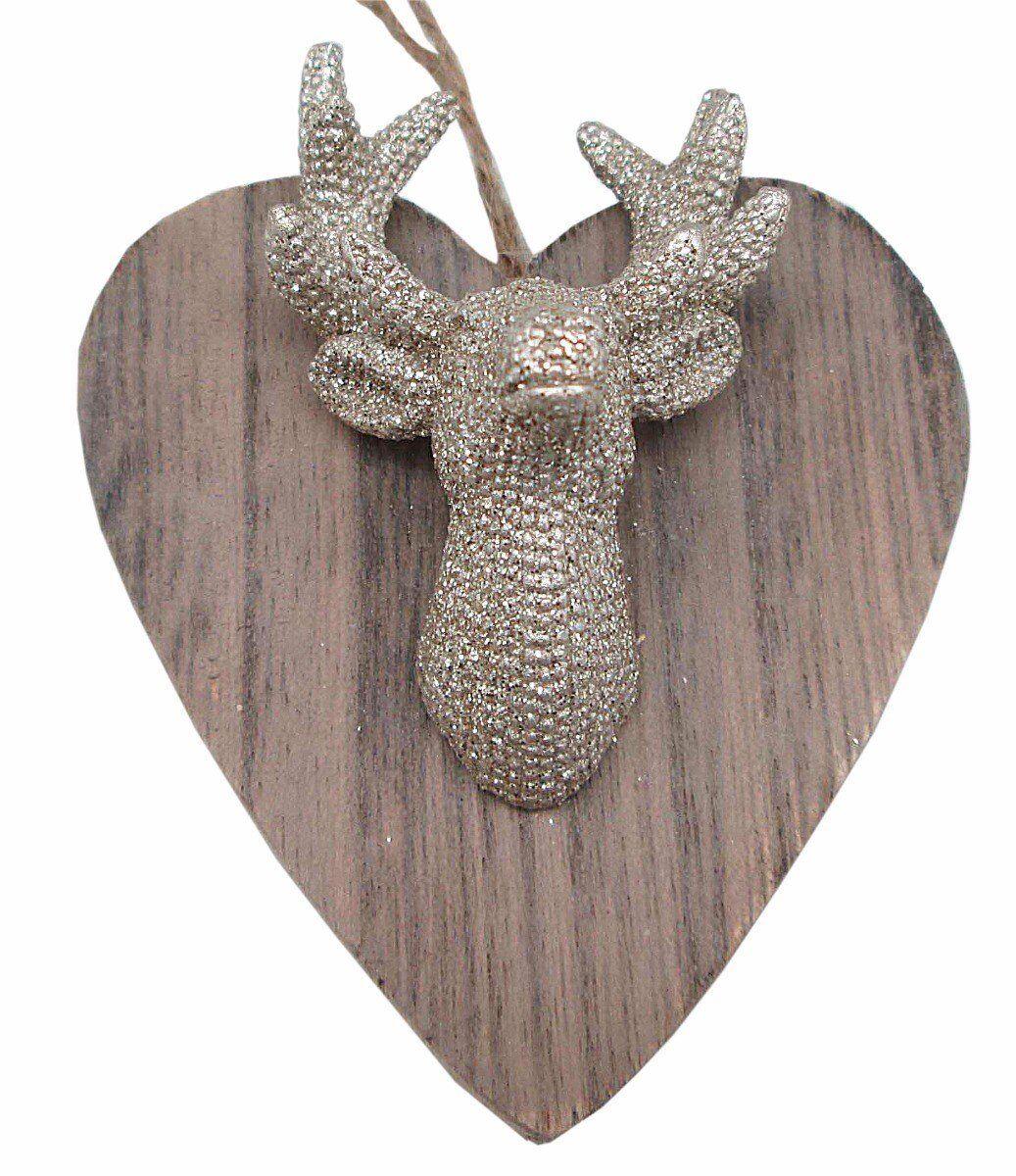 Zawieszka Wood Heart 7x8x2cm