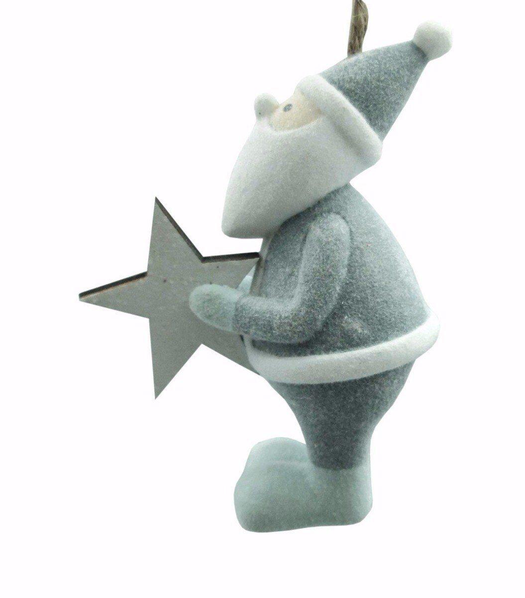 Zawieszka Santa z gwiazdą 5x6x3cm