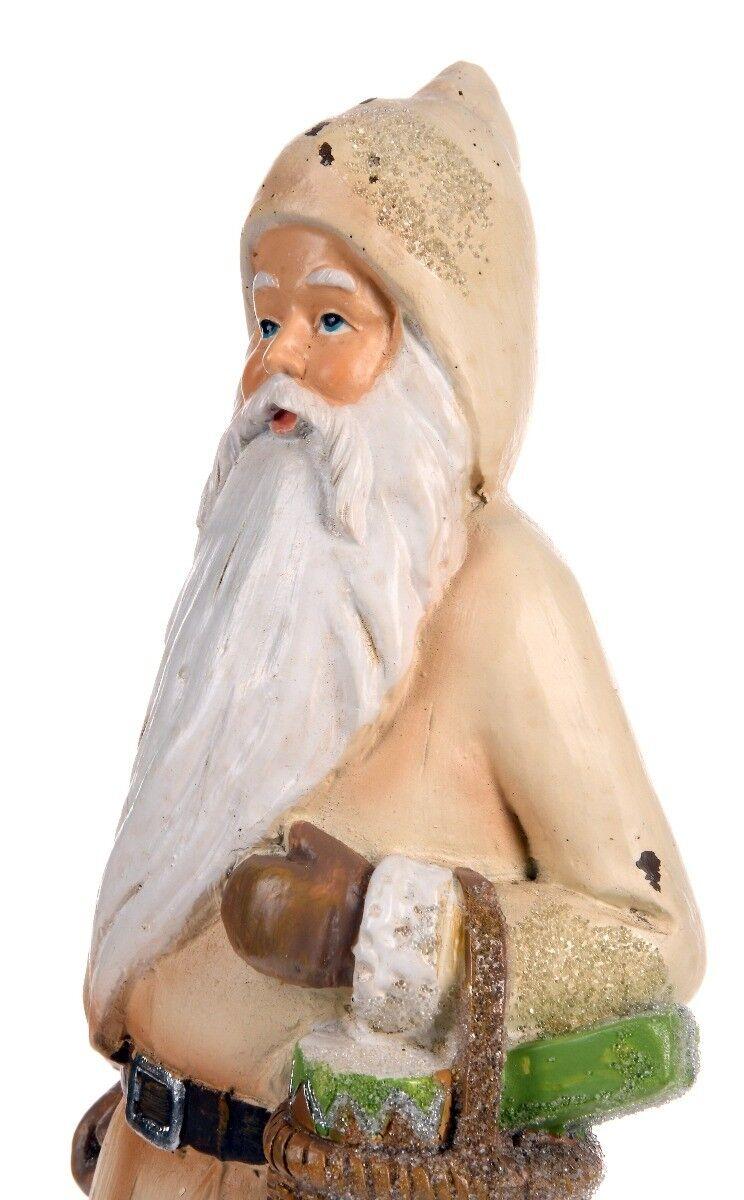 Beżowa figurka Santa 9x8x25cm