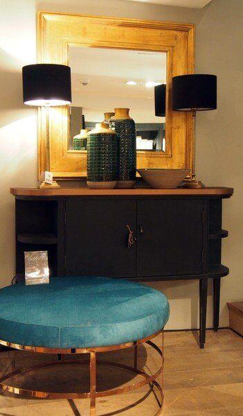 Stolik tapicerowany Modern Cooper 80x45cm