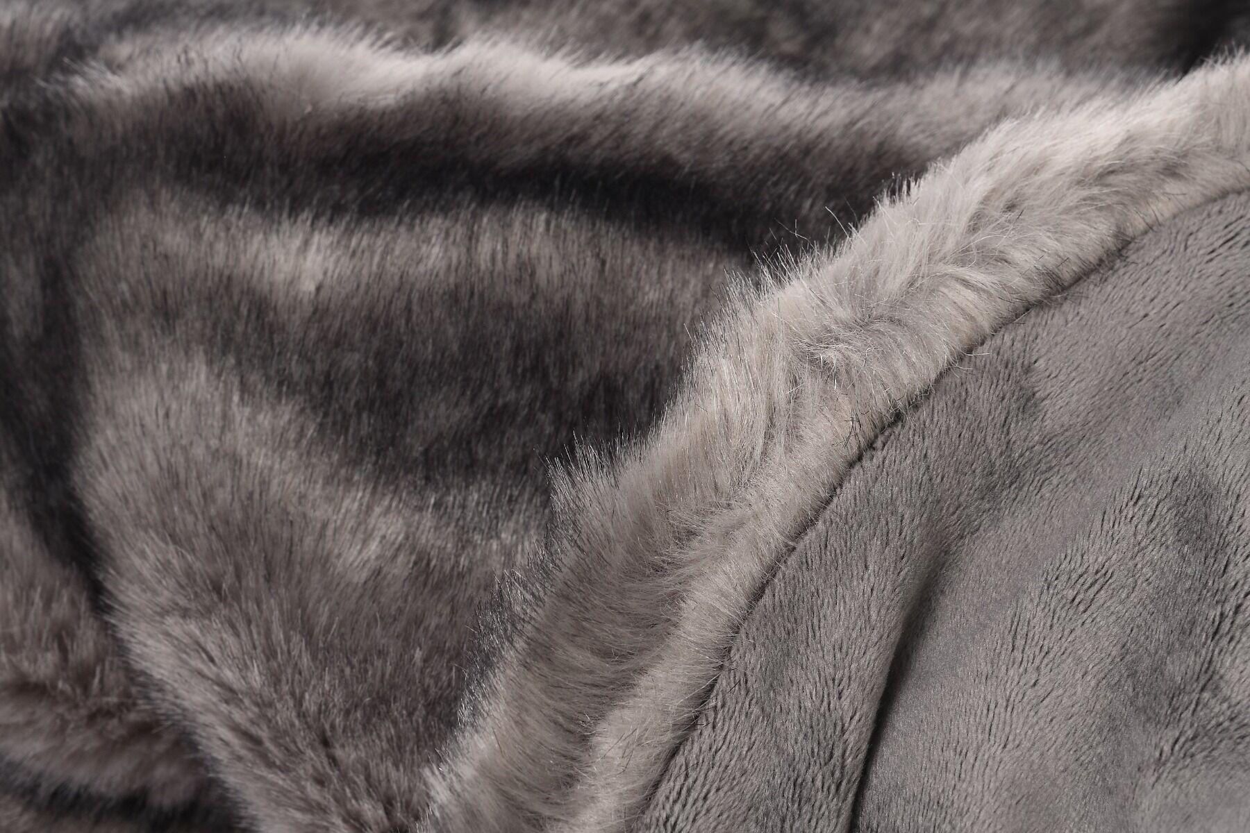 Pled futrzany ONYX Grey 127x152cm