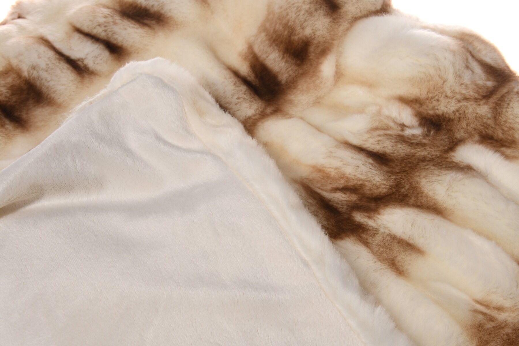 Pled futrzany ONYX Camel creme 127x152cm