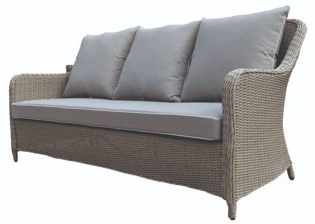 Sofa ogrodowa 3 os. z  poduszkami Grace
