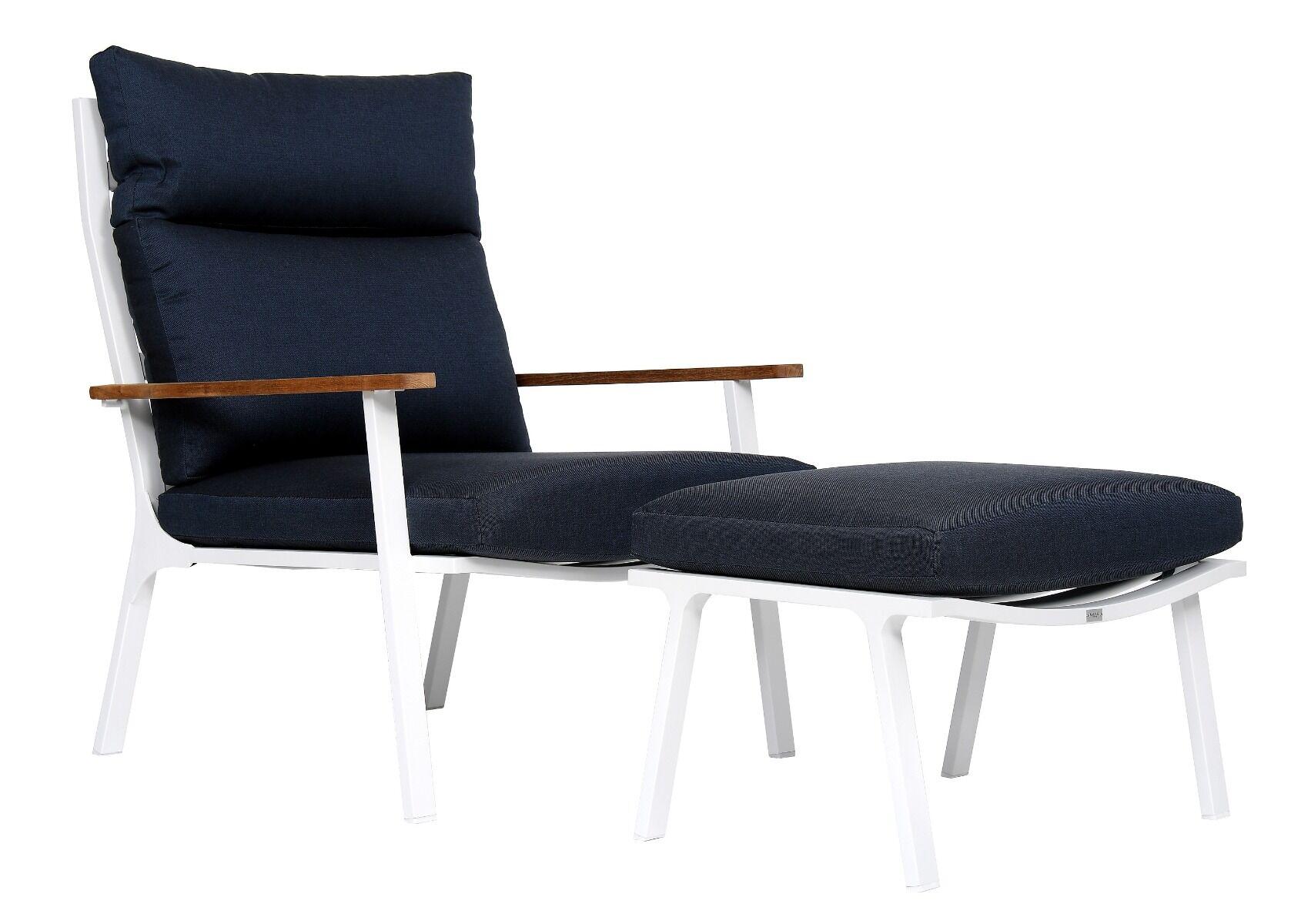 Fotel ogrodowy z podnóżkiem Sara 80x86x96cm