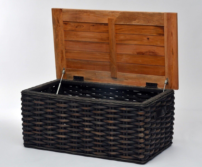 Skrzynia z drewnianym blatem Pedro 108x60x49cm