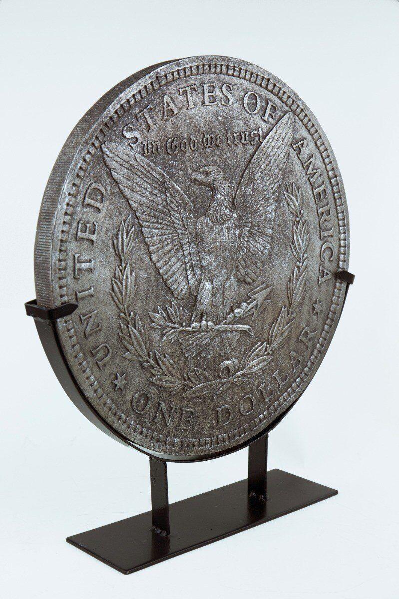 Figurka moneta dekoracyjna na podstawie 33x8x40cm