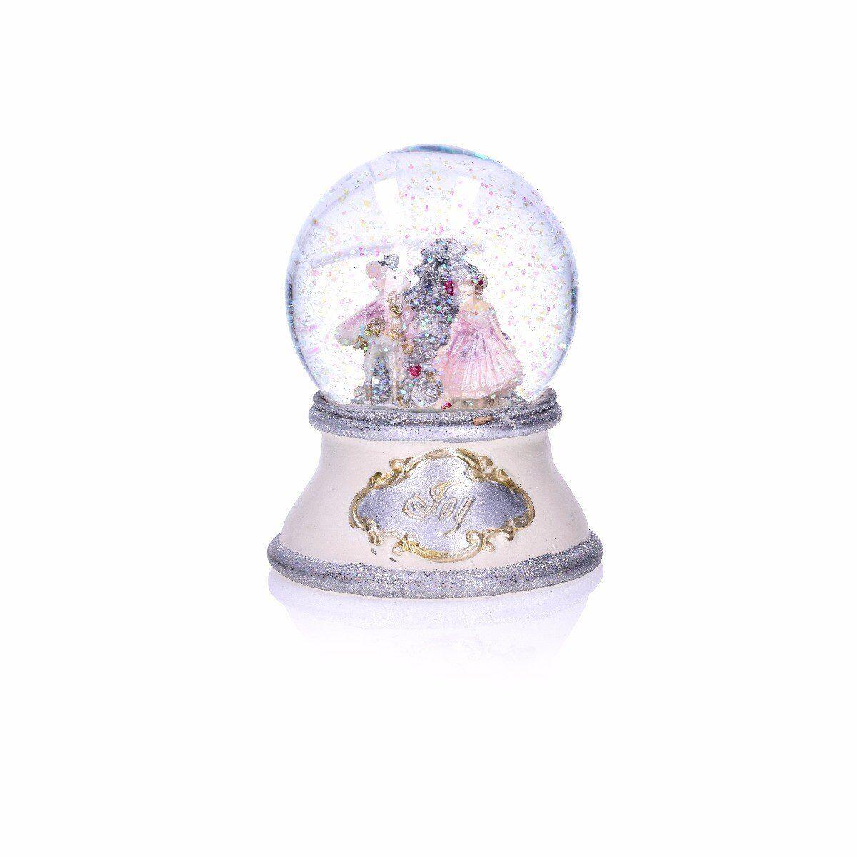 Figurka szklana kula mysz i dziewczynka