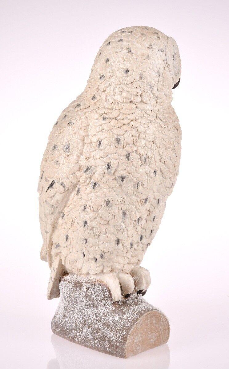 Figurka Biała Sowa 15x12x27cm