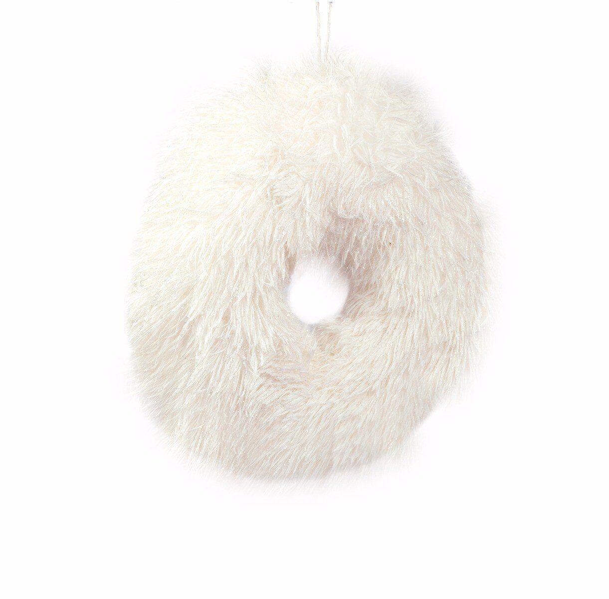 Biały wieniec dekoracyjny 30x5cm
