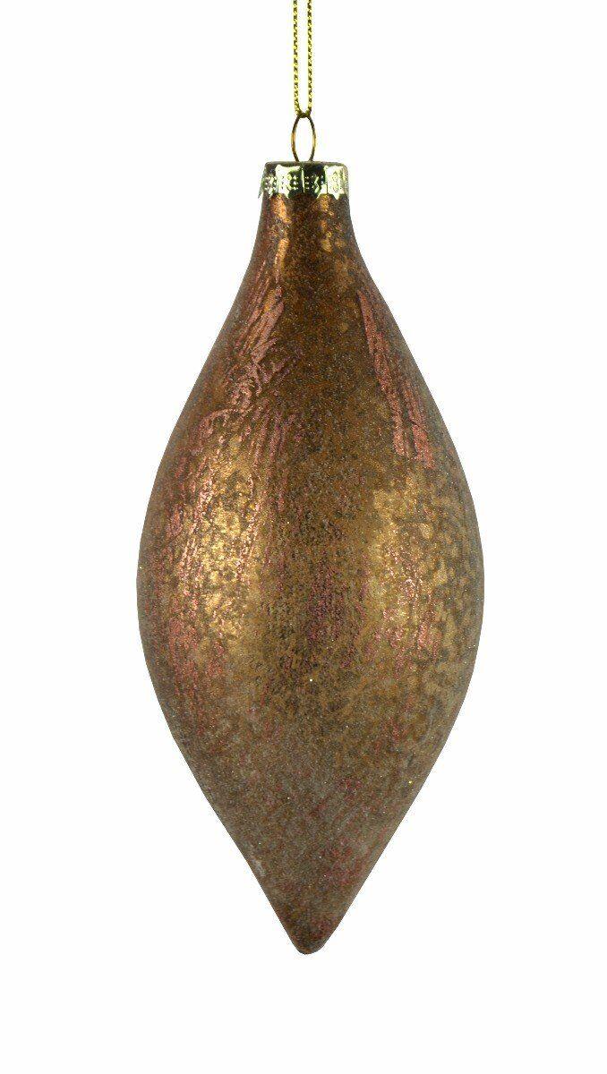 Bombka brązowy sopel 8x17cm