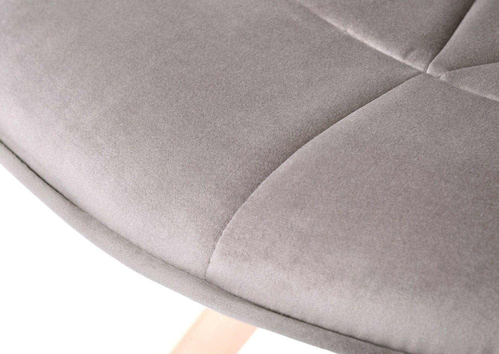 Szare krzesło Dolley 56x61x91 cm
