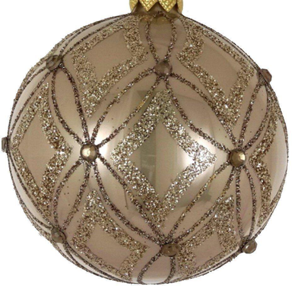 Bombka Paris 8cm szkło perłowa brokat