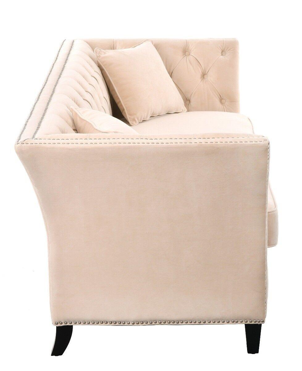 Beżowa sofa trzyosobowa Taylor 229x89x92cm