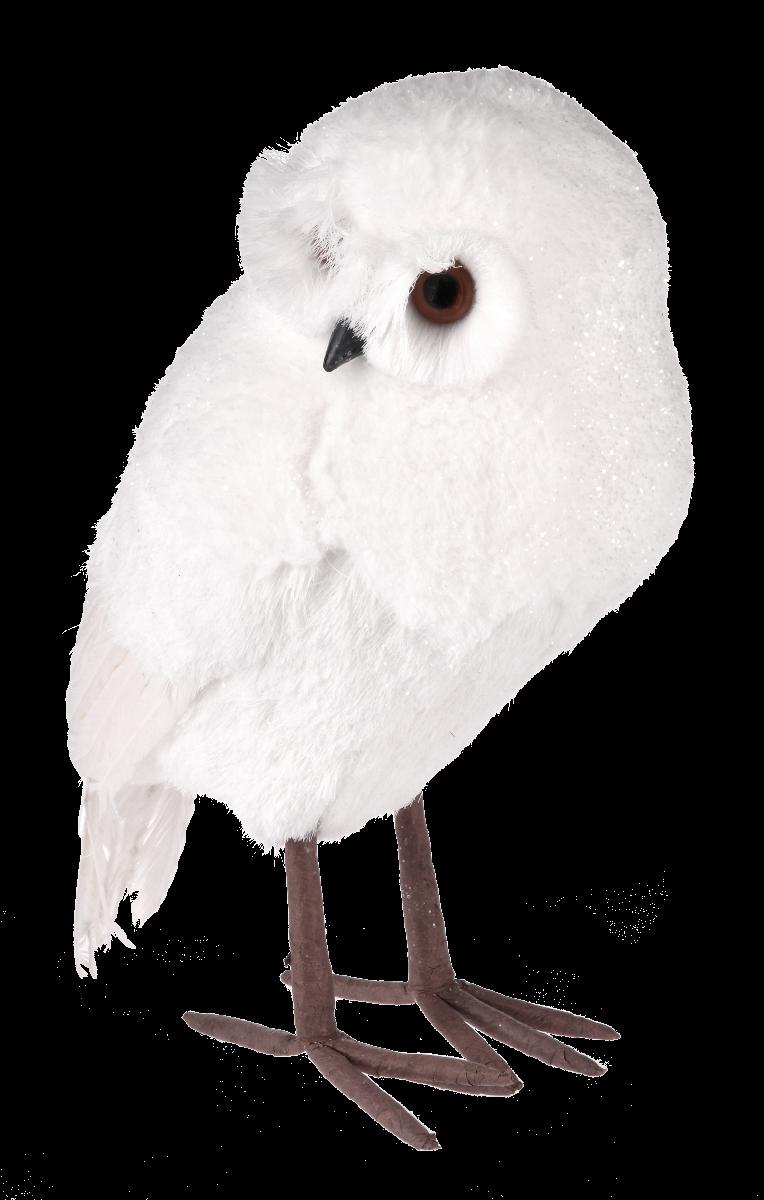 Biała sowa White Forest L 26x17x36cm