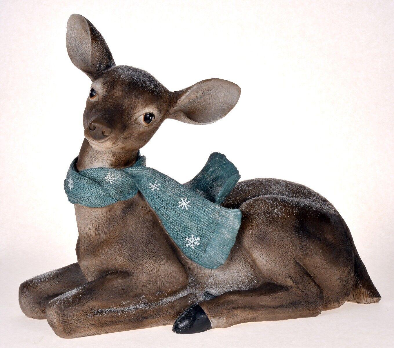 Figurka Renifer z szalem 70x32x56cm