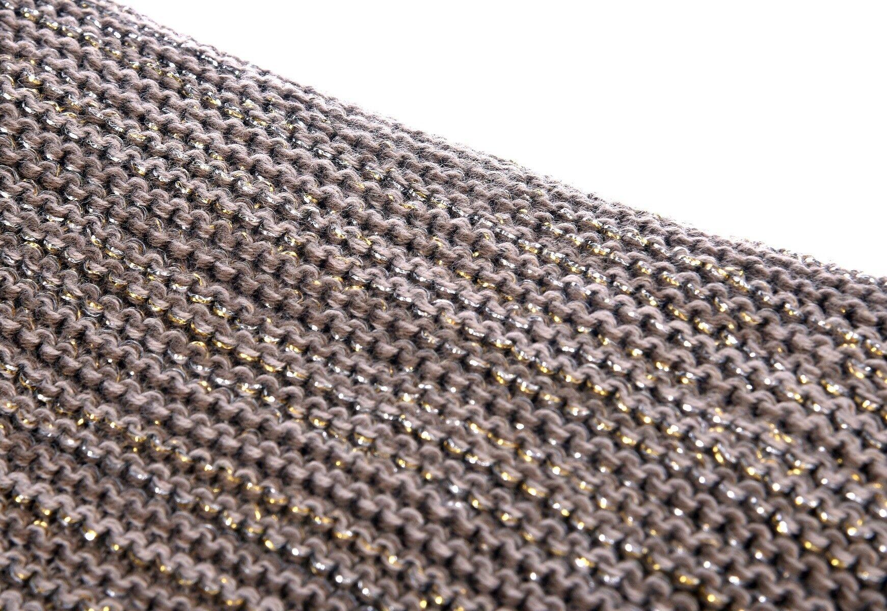 Brązowy koc Glitter 150x170cm